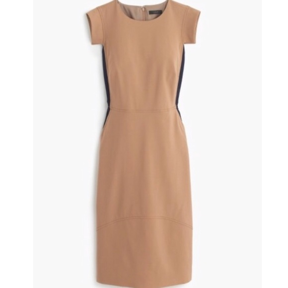 J. Crew Dresses   Skirts - Women s J Crew Resume Dress In Tan Beige cdd9ddf75
